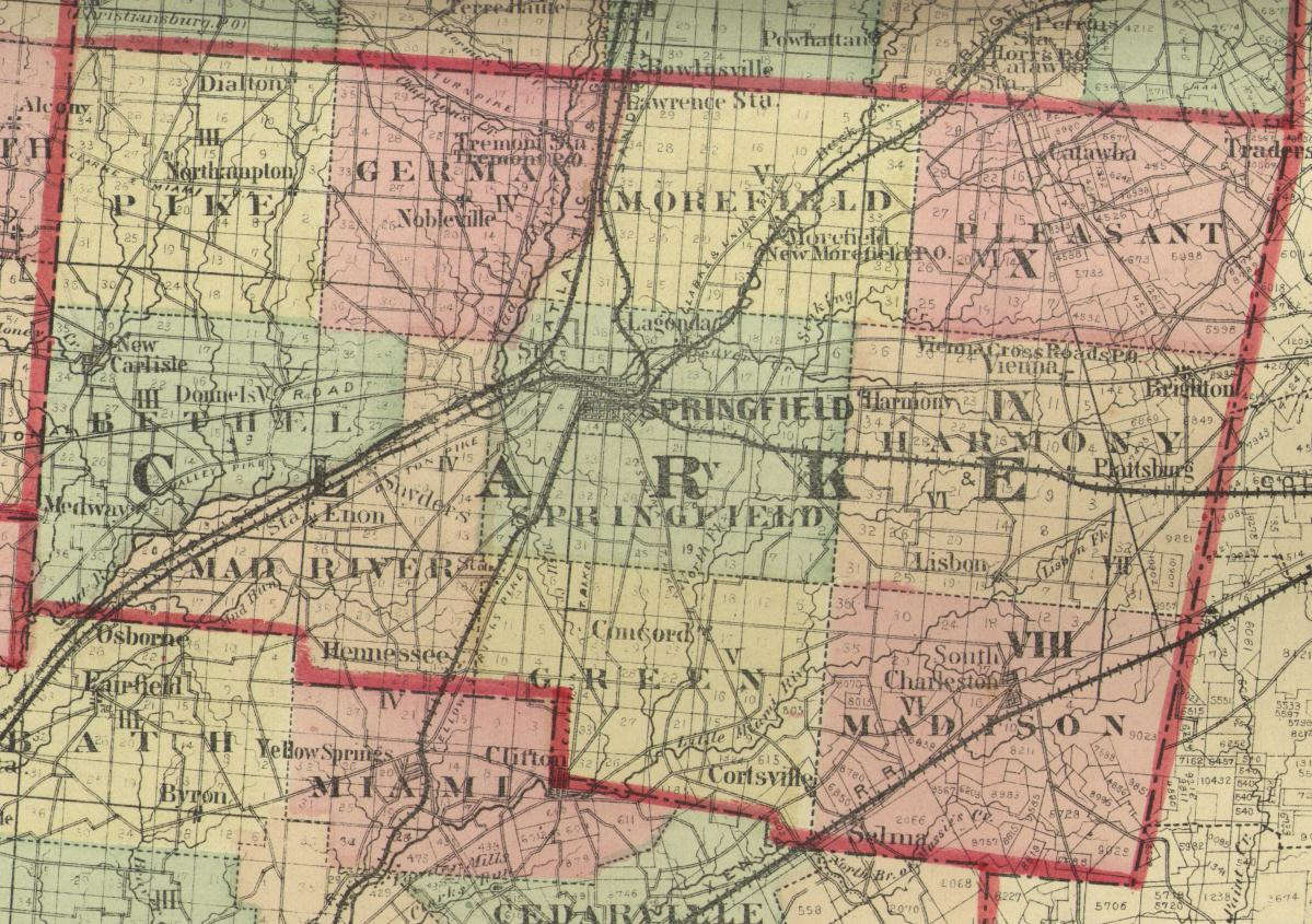 1875 Map of Clark County, Ohio