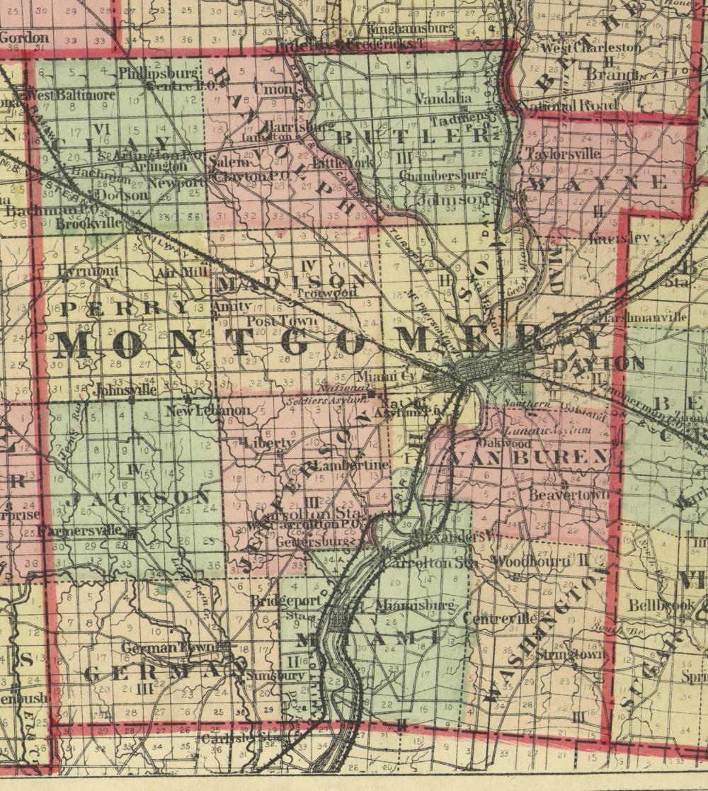 1875 Map Of Montgomery County Ohio